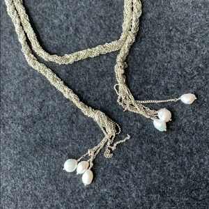 STELLA & DOT rope necklace with pearls